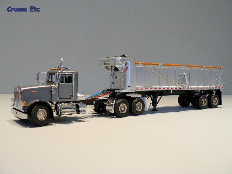 Truck Cab Inside >> Sword 2044 Peterbilt 357 with East Dump Trailer Cranes Etc ...